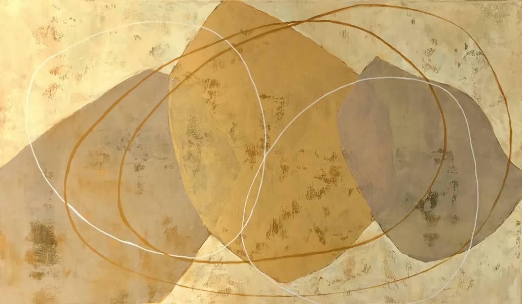Schilderij, acryl; 70 x 120